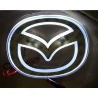 Эмблема светодиодная Mazda 6 NEW(14см х11см) (белый)
